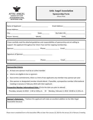 Sponsorship Form K Sponsorship Form Wbawl Sponsor Sheet Form Doc