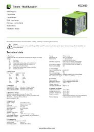 K3ZM20 Timers - Multifunction Technical data