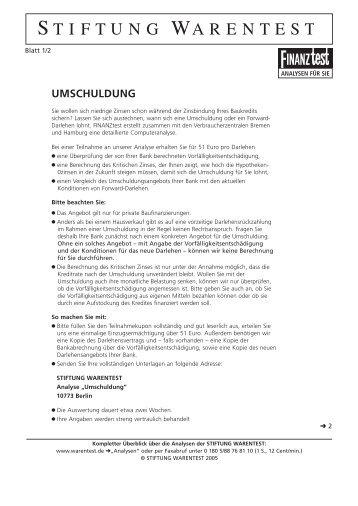 UMSCHULDUNG