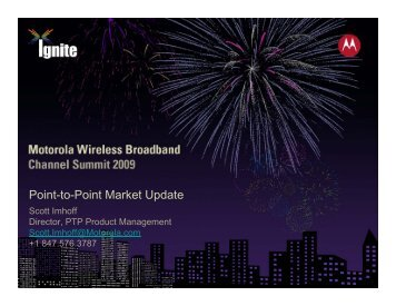PTP Product & Market Review : Scott Imhoff - Wireless Network ...