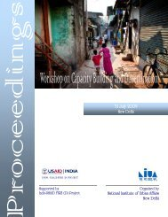 Proceedings - National Institute of Urban Affairs