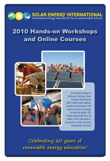 2010 Hands-on Workshops and Online Courses - Solar Energy ...