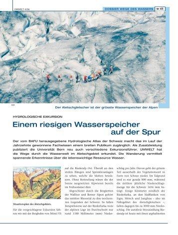 Einem riesigen Wasserspeicher auf der Spur - Universität Bern