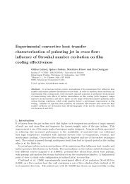 Experimental convective heat transfer characterization of pulsating ...