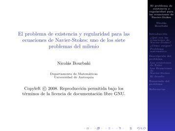 El problema de existencia y regularidad para las ecuaciones de ...