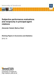 Subjective performance evaluations and reciprocity in principal ...