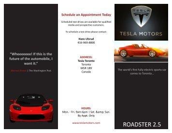Tesla Brochure