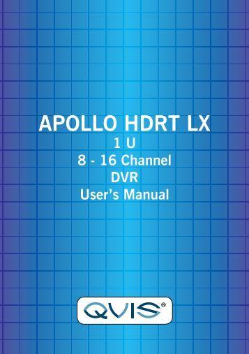 Apollo HDRT Manual - Qvis Security