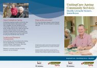 Healthy Living for Seniors Queanbeyan Flyer - UnitingCare Ageing