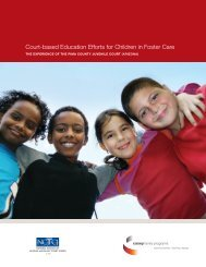 Court-based Education Efforts for Children in Foster Care