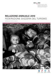 Relazione annuale 2010 - Schweizer Tourismus-Verband