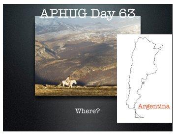 APHUG Day 63