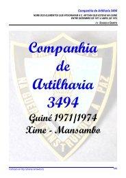 Listagem dos Militares da Companhia de Artilharia 3494 - Ultramar