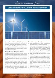 CLEAN ENERGY SOLUTIONS FOR AUSTRALIA