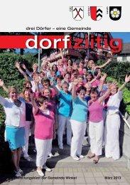 Dorfziitig März 2013 - Gemeinde Winkel
