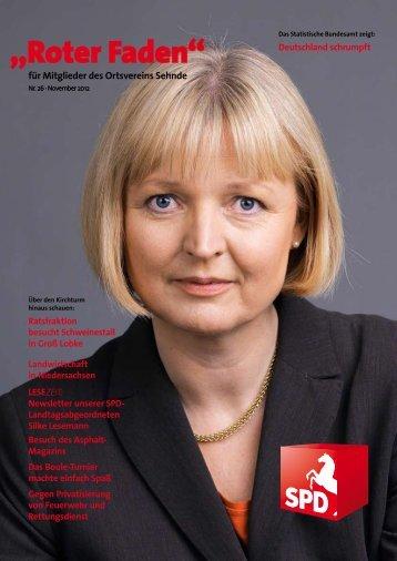 Roter Faden Ausgabe 11 2012 - SPD-Ortsverein Sehnde