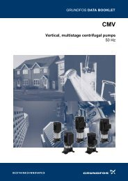 Vertical, multistage centrifugal pumps 50 Hz