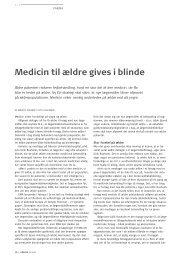 Medicin til ældre gives i blinde - Pharmadanmark