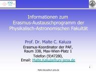 Informationen - Physikalisch-Astronomische Fakultät der FSU Jena