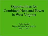 Opportunities for Combined Heat and Power in West Virginia
