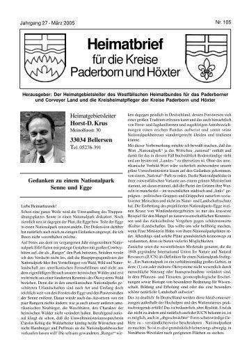 Heimatbrief - Bellersen