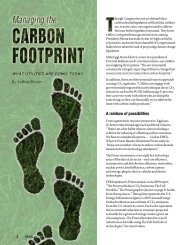 Managing the Carbon Footprint - Basin Electric Power Cooperative