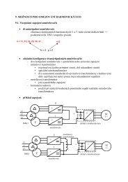 9 Možnosti pro omezování harmonických II.