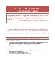 Grades 9 -12 National Standards for Arts Education- Music
