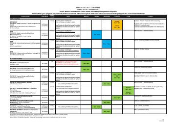 SEMESTER 2 2013 - TIMETABLE 29 July 2013 to 1 November 2013 ...