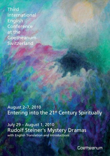 International English Week at the Goetheanum - Anthroposophical ...