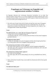 FEAS Fragebogen zur Erfassung von Empathie und ... - ZPID