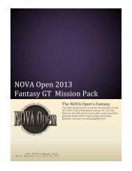 NOVA Open 2013 Fantasy GT Mission Pack