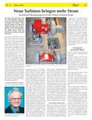 Neue Turbinen bringen mehr Strom - Ortskundliche Sammlung ...