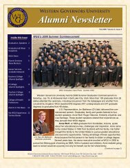 WESTERN GOVERNORS UNIVERSITY Alumni Newsletter