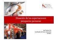 Desenvolvimiento de las exportaciones del sector pesquero