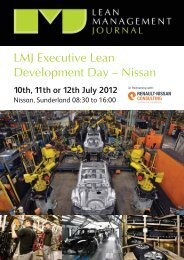 LMJ Executive Lean Development Day – Nissan - The Manufacturer ...