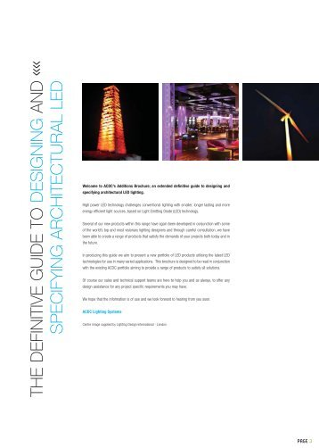 specifying architectural LED - Modus Lighting