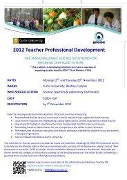 2012 Teacher Professional Development - Association of ...
