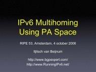 Proposal for IPv6 Multihoming Using PA Space - RIPE 64