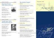 Jahresprogramm 2007 - Kirchenmusik an der Dreifaltigkeitskirche ...