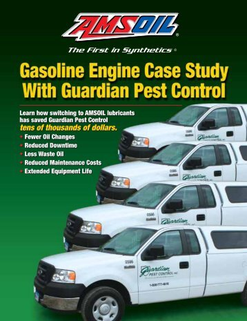 Gasoline Engine Case Study With Guardian Pest Control - Amsoil