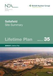 Lifetime Plan - Sellafield Ltd