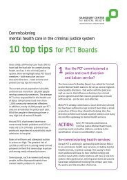 10 top tips for PCT Boards - Centre for Mental Health