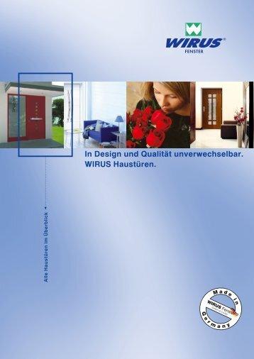 In Design und Qualität unverwechselbar. WIRUS ... - Fensterplatz.de