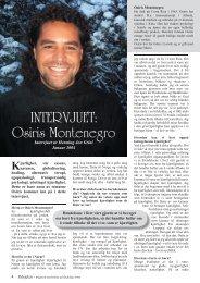 INTERVJUET: Osiris Montenegro - Ildsjelen