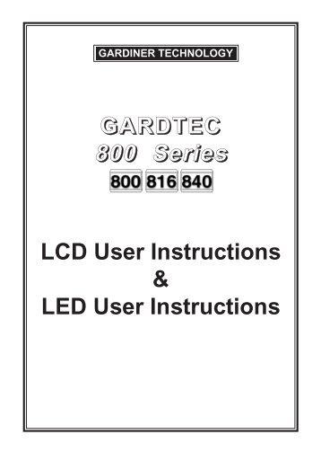 gardtec 800 user manual daily instruction manual guides u2022 rh testingwordpress co gardtec 800 series installation manual gardtec 800 series engineer manual