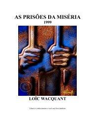 As prisões da Miséria - FESP