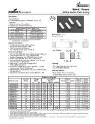 1025FA Series - Cooper Bussmann