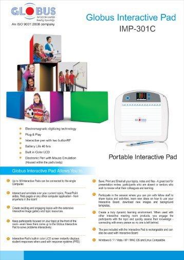 Globus Interactive Pad IMP-301C - Globus Infocom