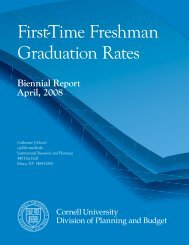 First-Time Freshman Graduation Rates - Cornell University Division ...